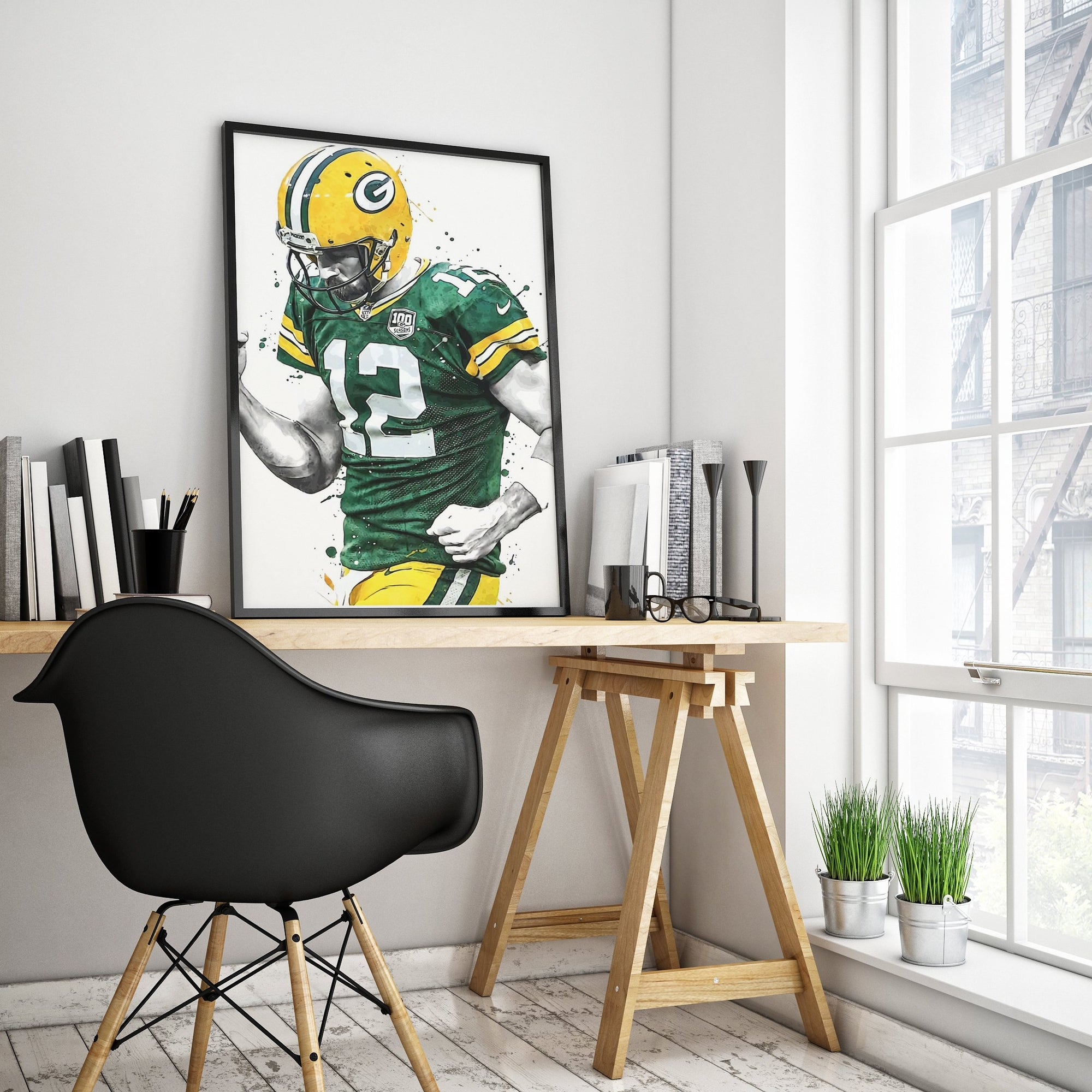 Aaron Rodgers Wall Art Poster-Home Decor-JD Odds & Ends