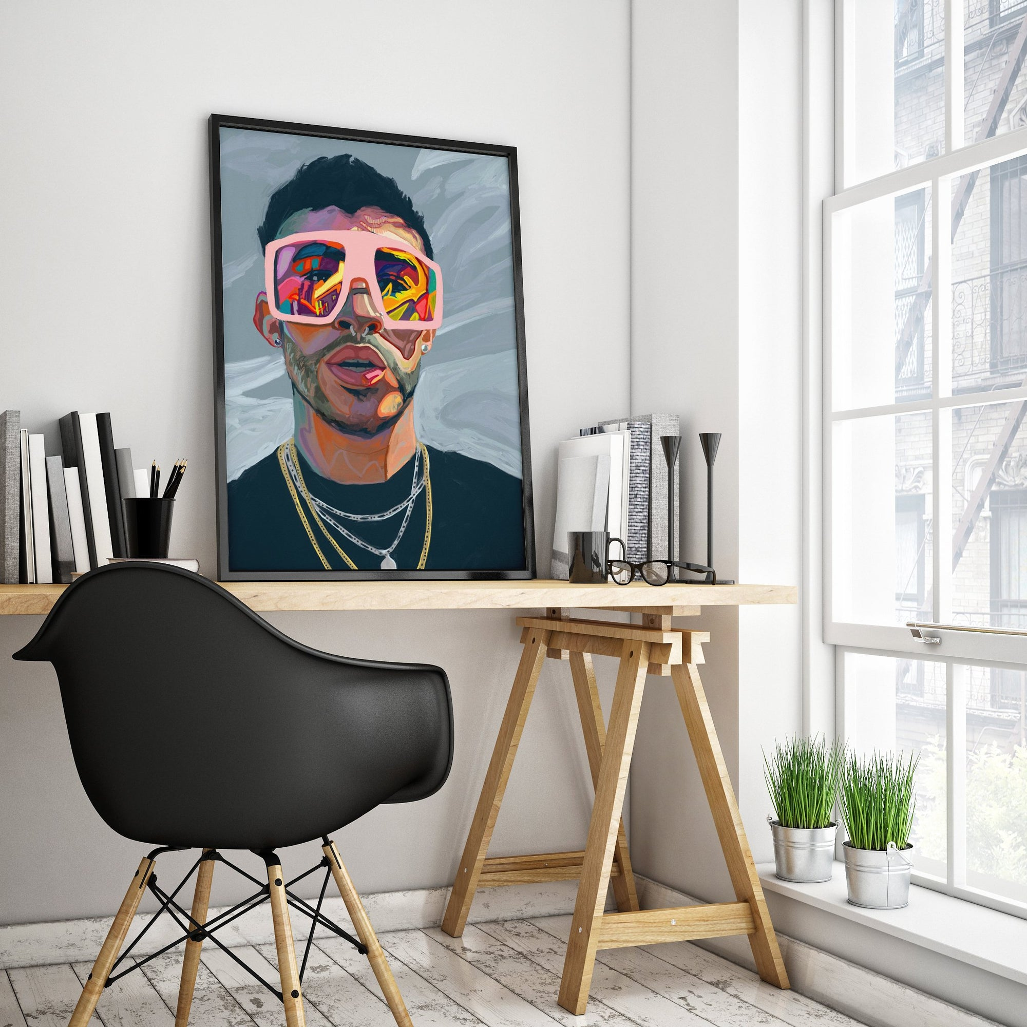 BAD BUNNY Wall Art Poster-Home Decor-JD Odds & Ends