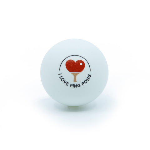 I Love Ping Pong Ball - White