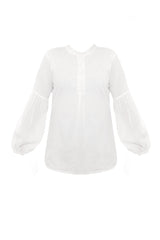 white puff sleeve shirt