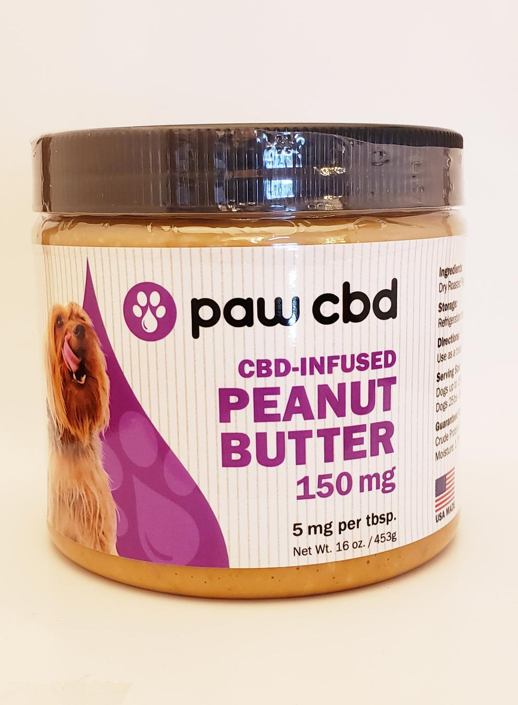 Paw CBD Peanut Butter Jar 150 mg - CBD Central