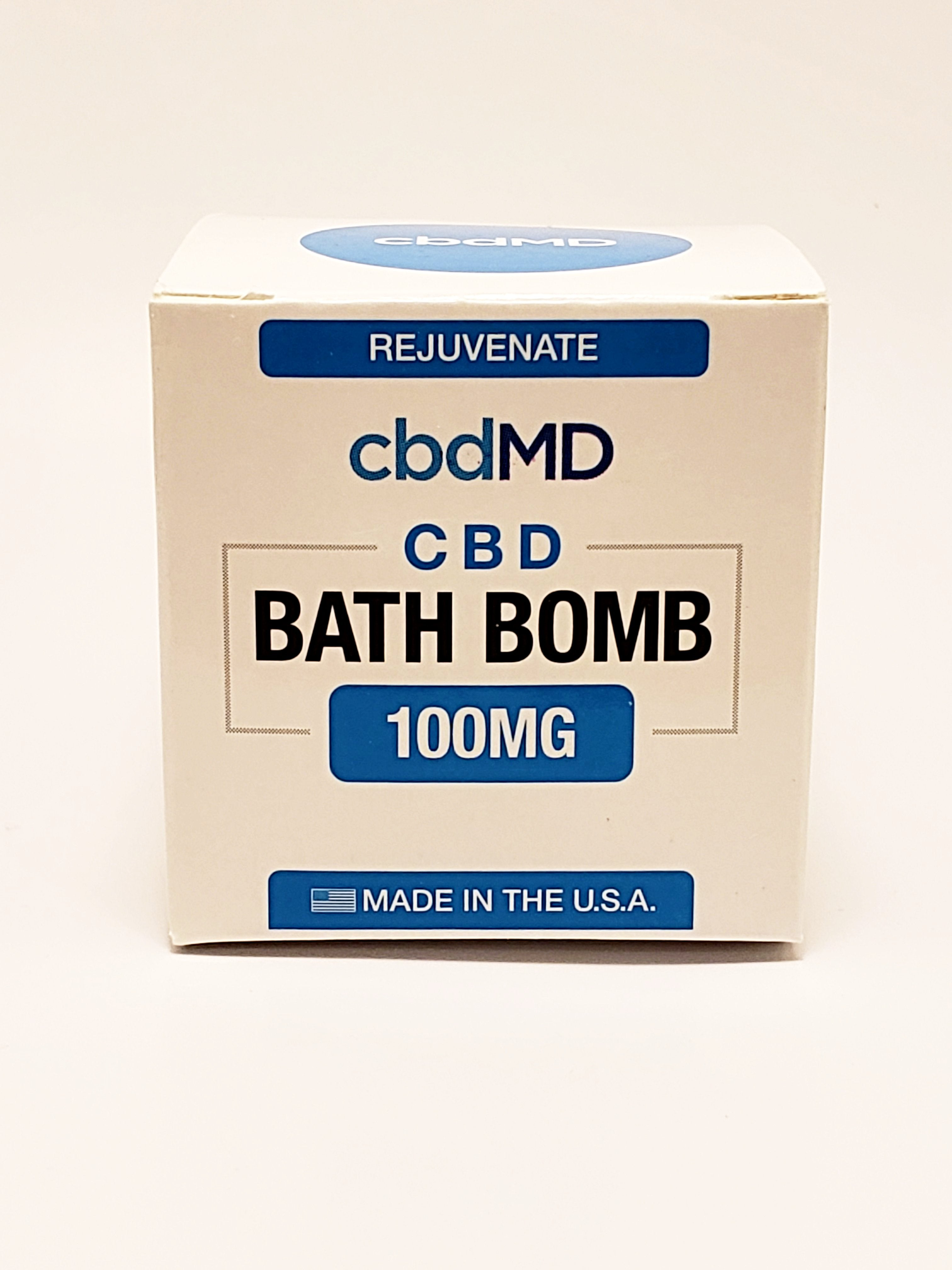 Bath Bomb 100 mg CBD - Rejuvenate (Eucalyptus) - CBD Central