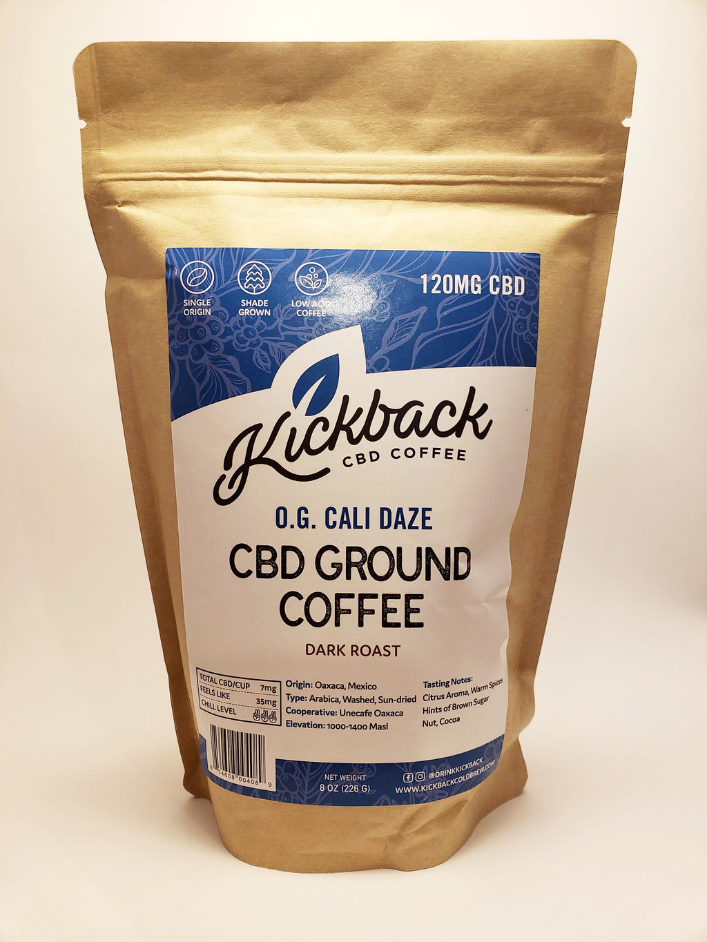 CBD Coffee - O.G. Cali Daze (Dark Roast) - CBD Central