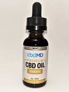 cbdMD 3000 mg Oil - Mint Flavor - CBD Central