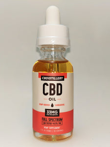 CBDistillery 1000 mg Full Spectrum Oil - Natural Flavor - CBD Central