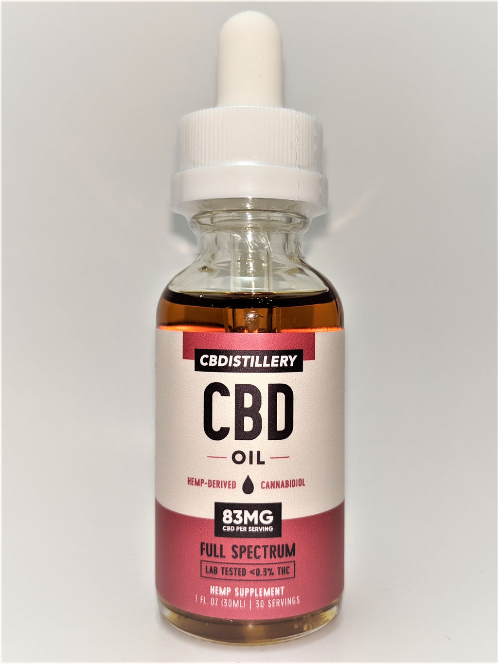 CBDistillery 2500 mg Full Spectrum Oil - Natural Flavor - CBD Central