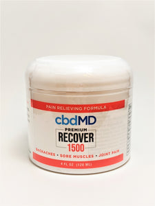 Recover Cream 1500 mg (4 ounces) - CBD Central