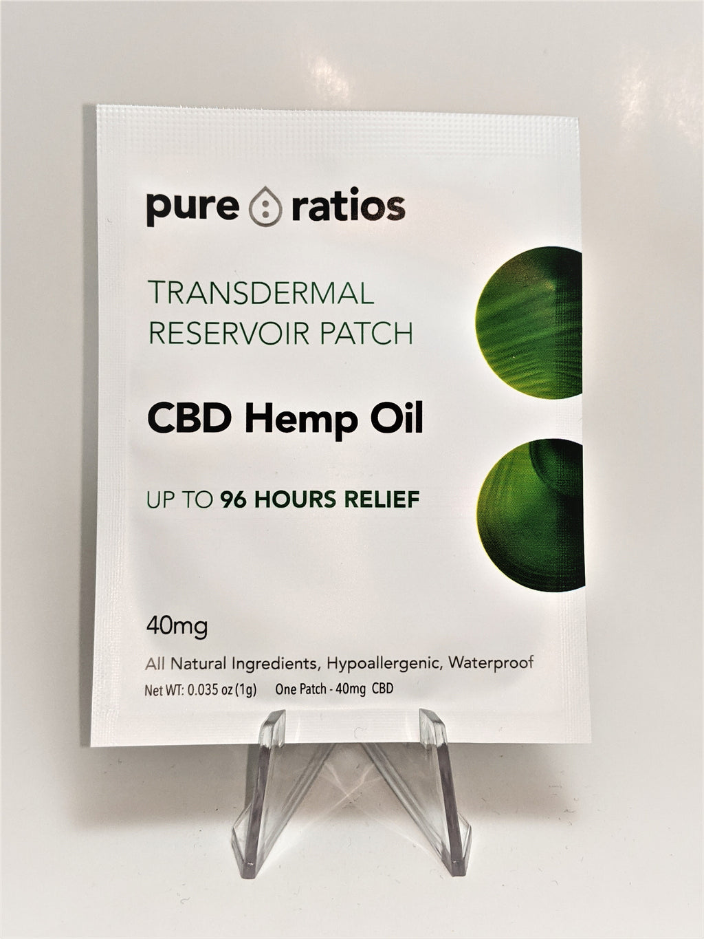 Pure Ratios CBD Patch - Single Patch (40 mg) - CBD Central