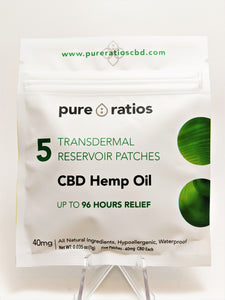 Pure Ratios CBD Patches - 5 Pack (40 mg each) - CBD Central