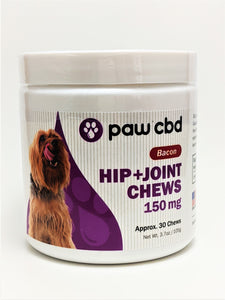 Paw CBD Hip and Joint Soft Chews 150 mg (Bacon) - CBD Central