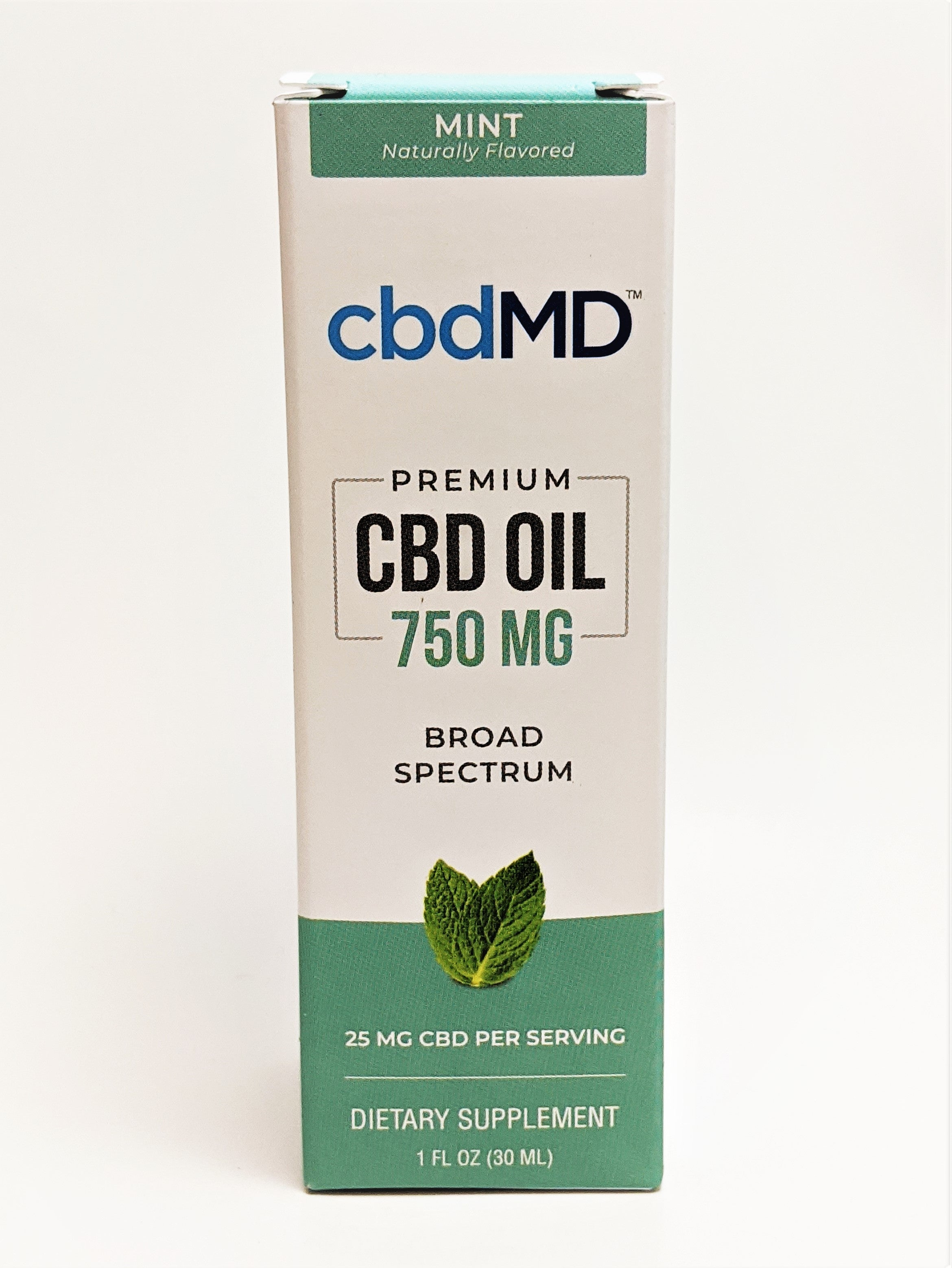 cbdMD 750 mg Oil - Mint Flavor - CBD Central