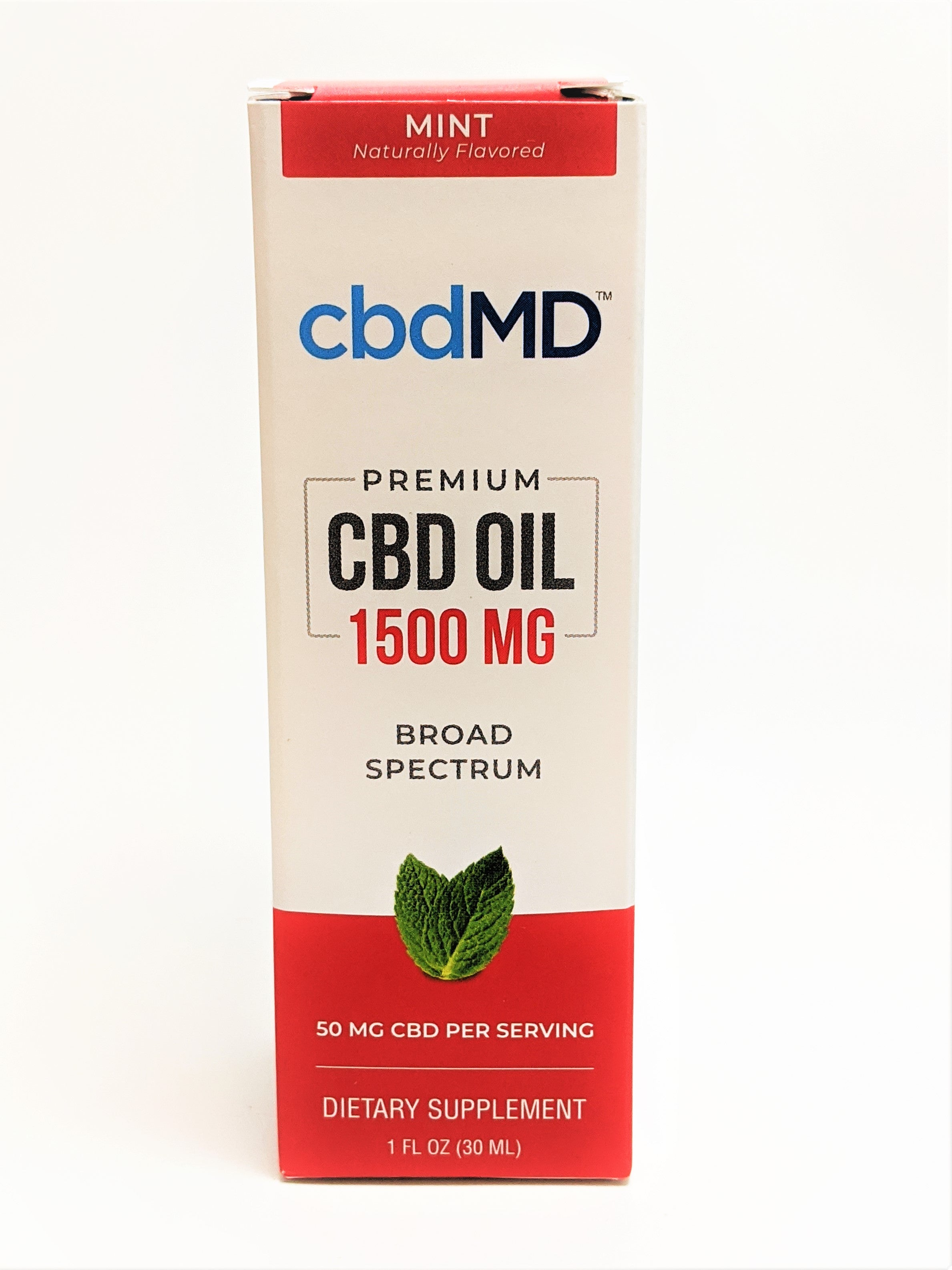 cbdMD 1500 mg Oil - Mint Flavor - CBD Central
