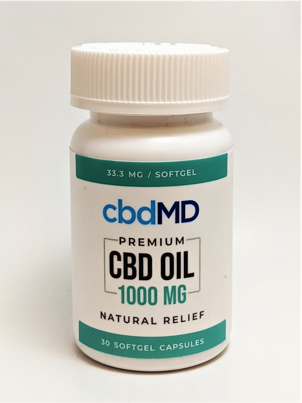 cbdMD 33.3 mg SoftGel Capsules, 30 count (1000 mg CBD) - CBD Central
