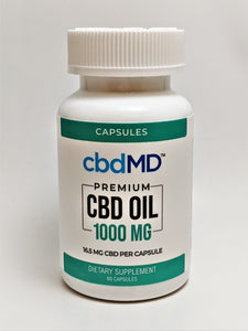 cbdMD 16.6 mg THC Free Capsules, 60 count (1000 mg) - CBD Central