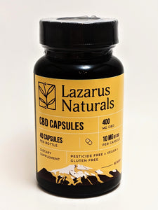 Lazarus Naturals 10 mg Full Spectrum CBD Capsules, 40 count (400 mg) - CBD Central