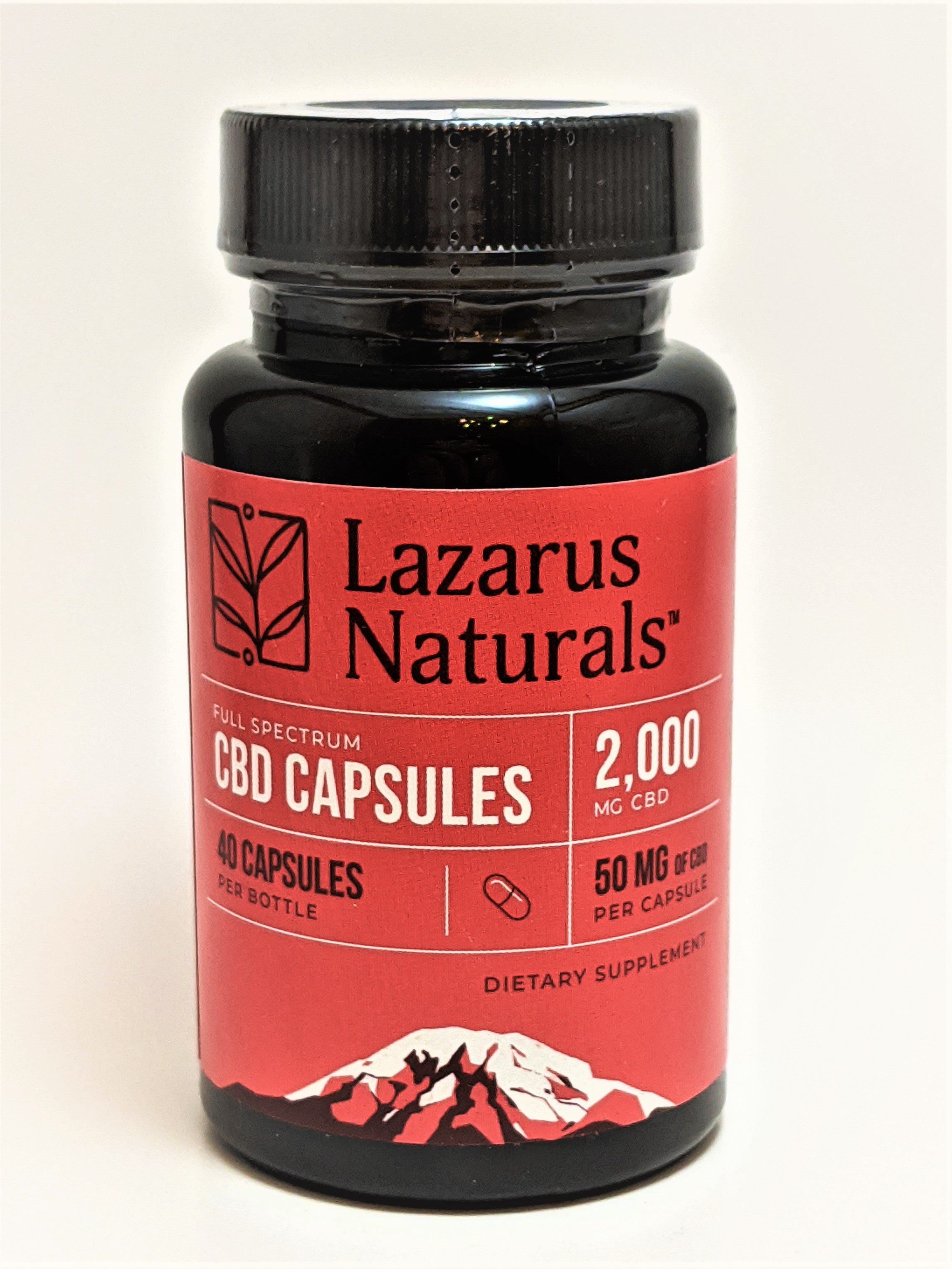 Lazarus Naturals Full Spectrum 50 mg capsules (40 count bottle) - CBD Central