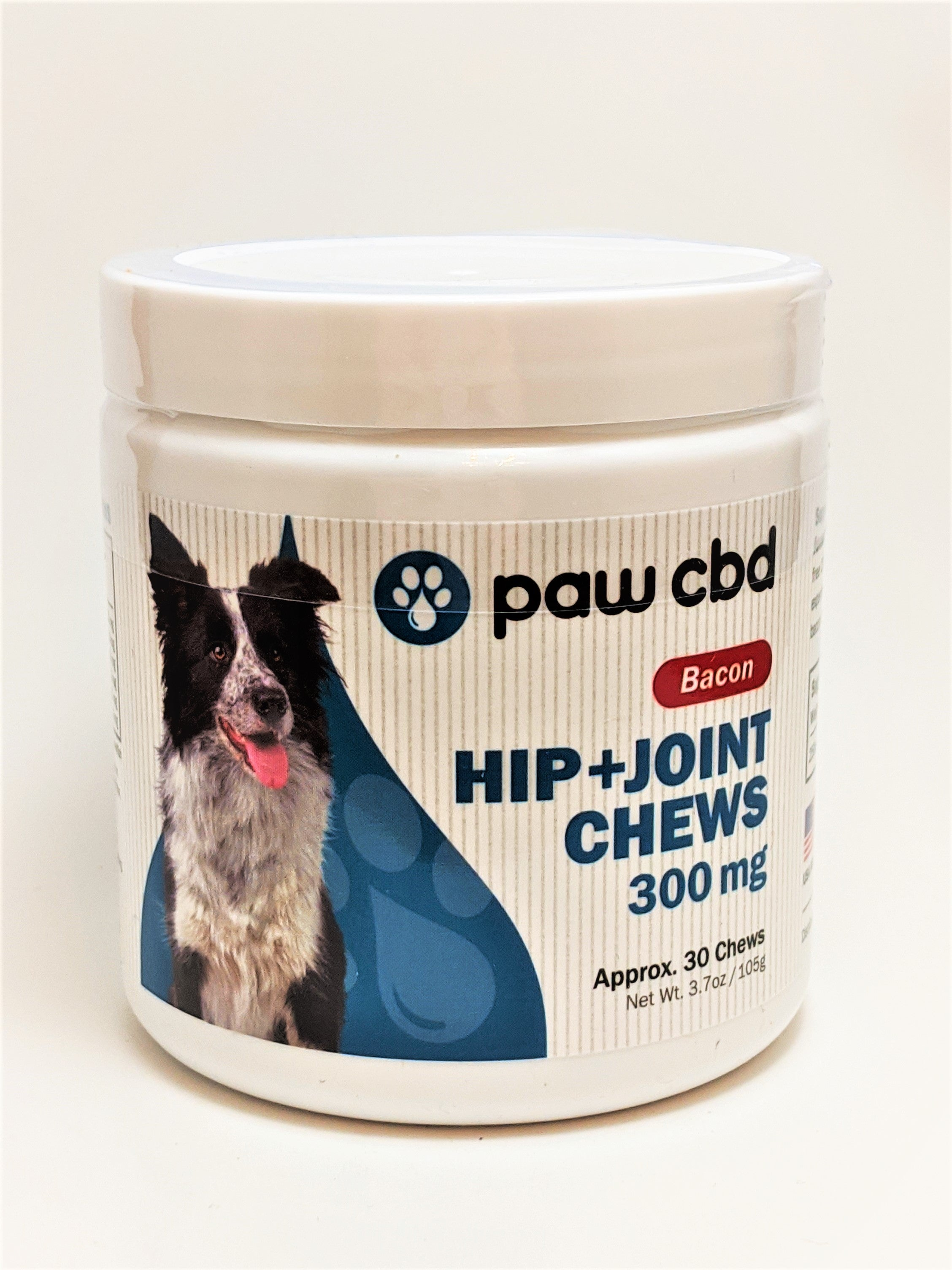 Paw CBD Hip and Joint Soft Chews 300 mg (Bacon) - CBD Central