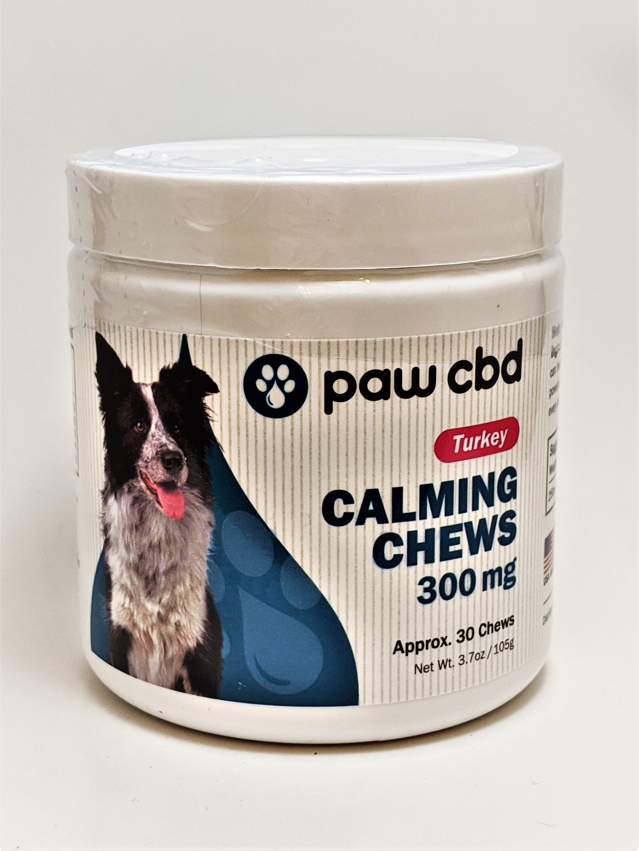 Calming Chews Dog Treats 300 mg (Turkey) - CBD Central