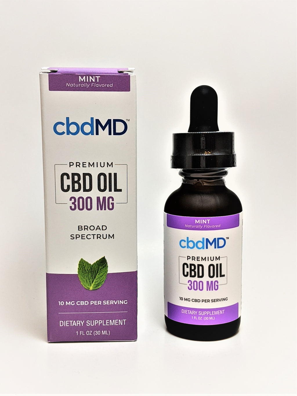 cbdMD 300 mg Oil - Mint Flavor - CBD Central