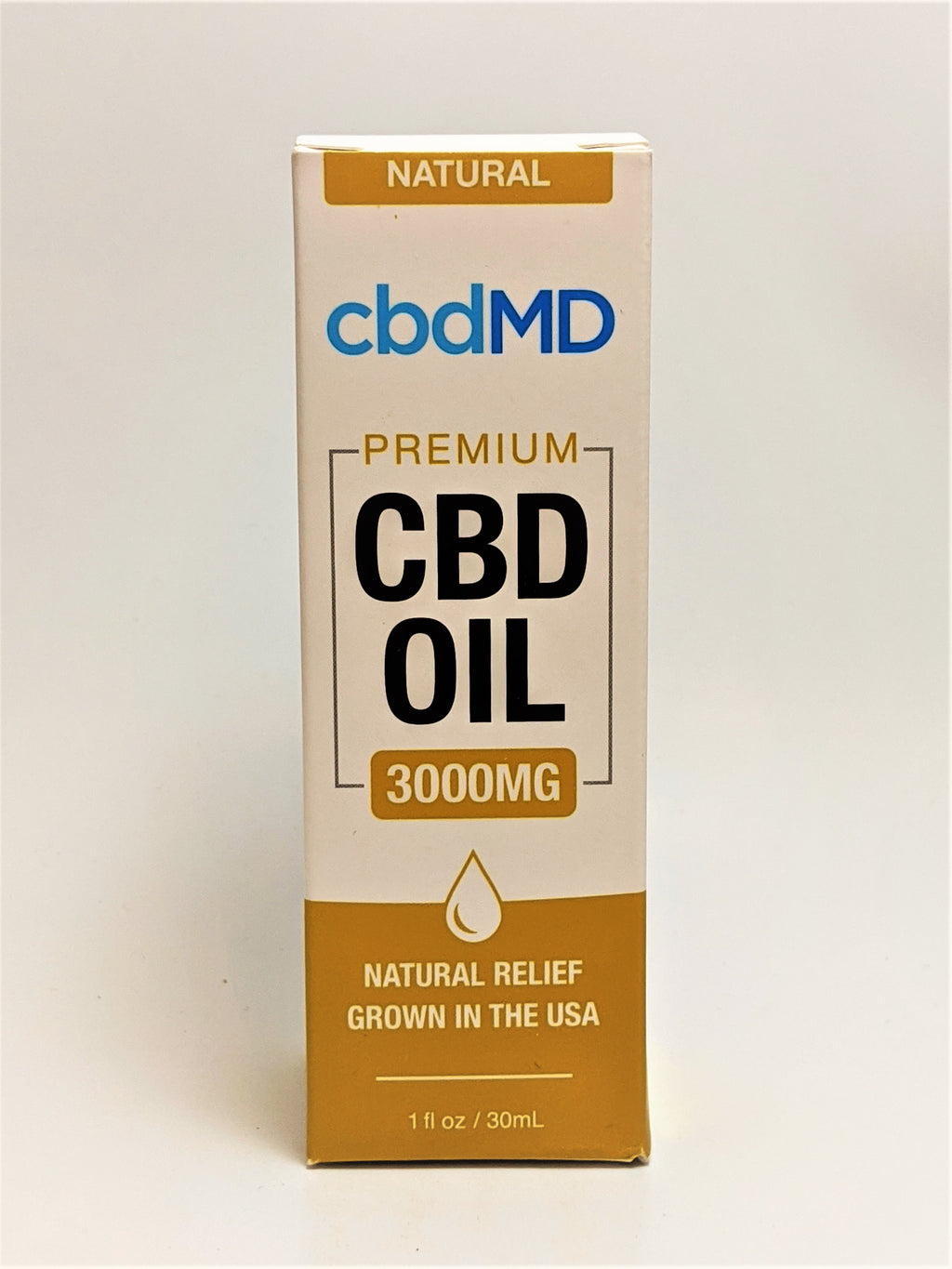 cbdMD 3000 mg Oil - Natural Flavor - CBD Central
