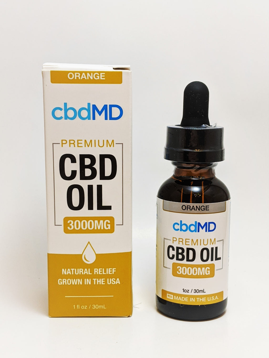 cbdMD 3000 mg Oil - Orange Flavor - CBD Central