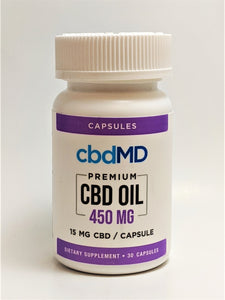 15mg Capsules, 30 count (450 mg CBD) - CBD Central