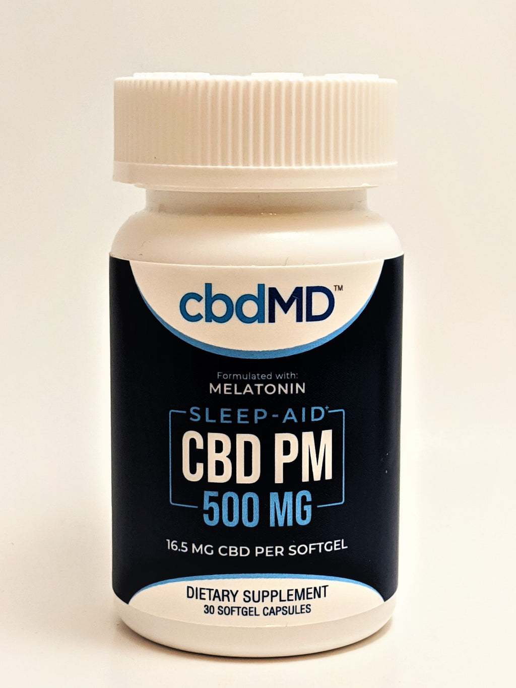 cbdMD 16.5 mg THC Free CBD PM Capsules, 30 Count (500 mg) - CBD Central