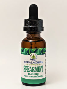 Appalachian Growers 1,500 mg Full Spectrum Oil - Spearmint - CBD Central