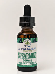 Appalachian Growers 500 mg Full Spectrum Oil - Spearmint - CBD Central
