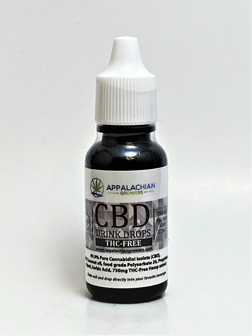 Appalachian Growers Water Soluble Drink Drops 750 mg Isolate CBD