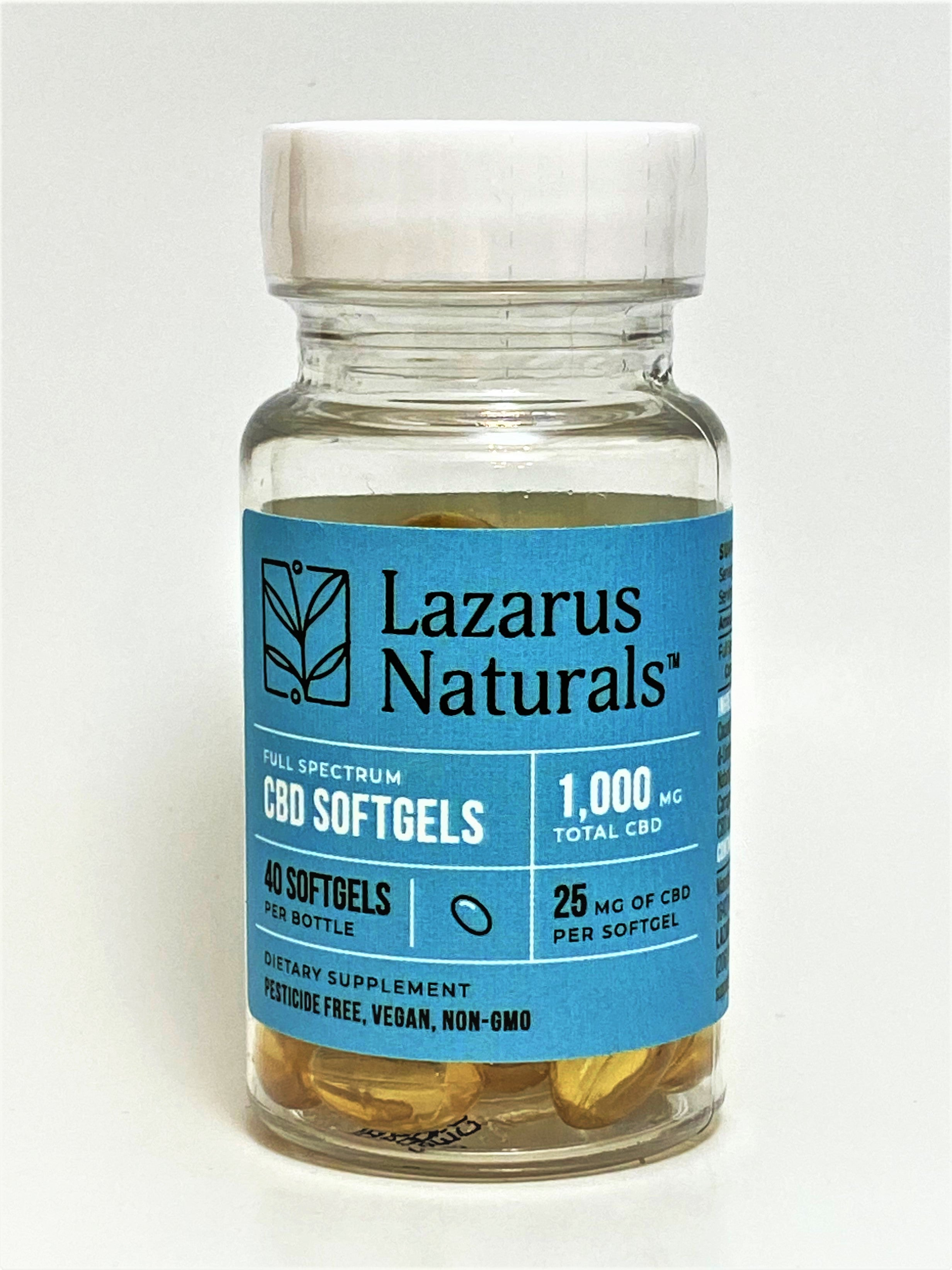 Lazarus Full Spectrum 25 mg Softgels (40 count)