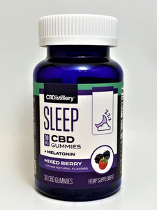 CBDistillery Sleep CBD 750 mg Mixed Berry Gummies+Melatonin 30 mg (30 ct)