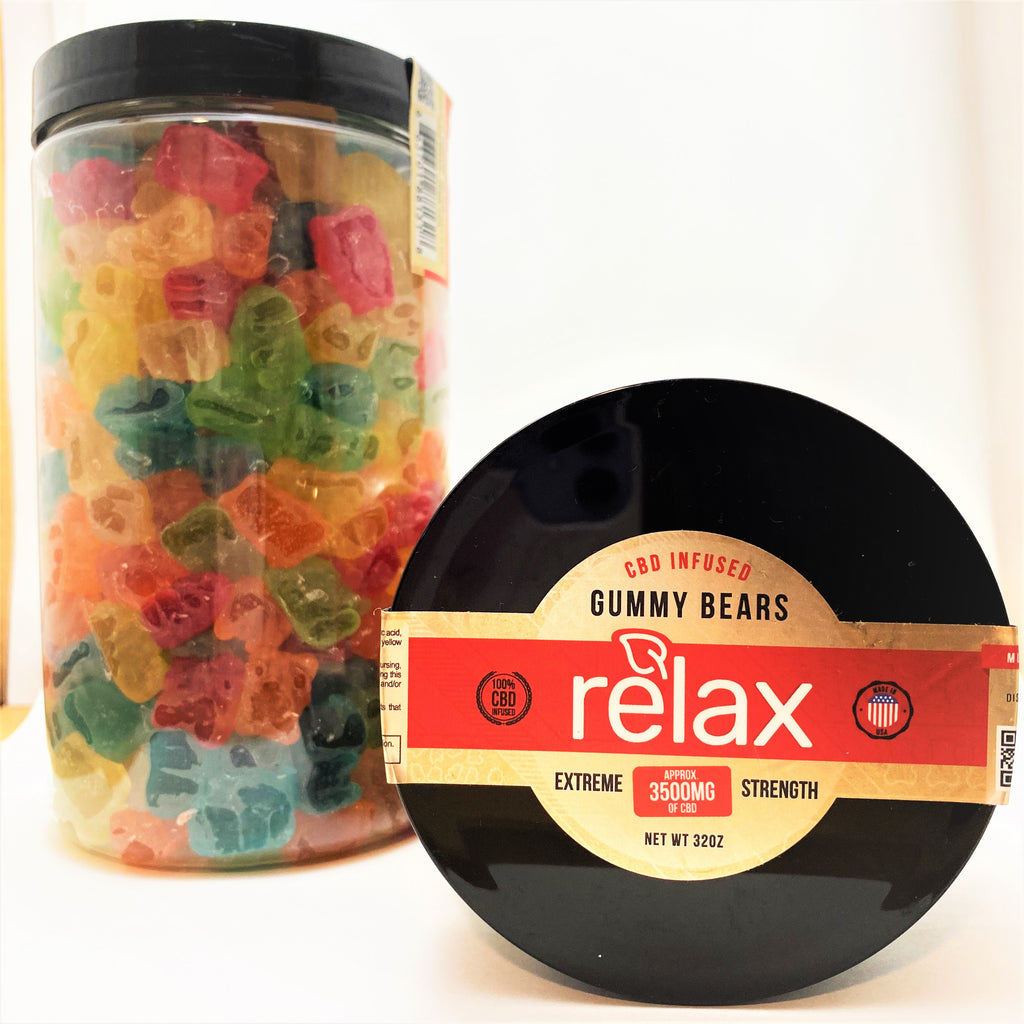 Broad Spectrum Relax 3500 mg Gummy Bears - CBD Central