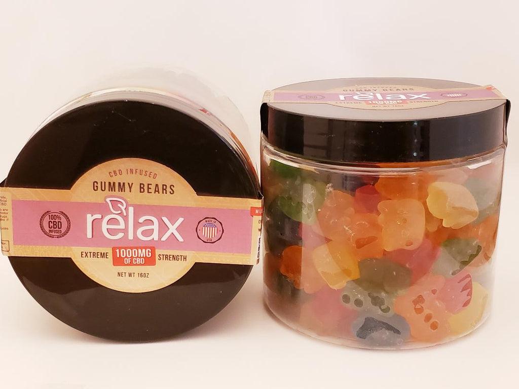 Broad Spectrum Relax 1000 mg Gummy Bears - CBD Central