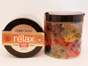 Broad Spectrum Relax 500 mg Gummy Bears - CBD Central