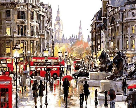London Streets DIY Painting By Numbers 40x50cm Box Set