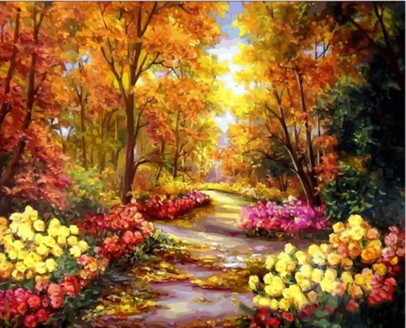 Autumn Path DIY Painting By Numbers 40x50cm Box Set