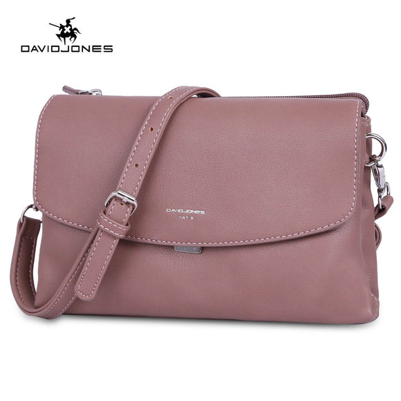 DAVIDJONES women shoulder bags pu leather female handbag mini lady solid messenger bag girl brand crossbody bag drop shipping