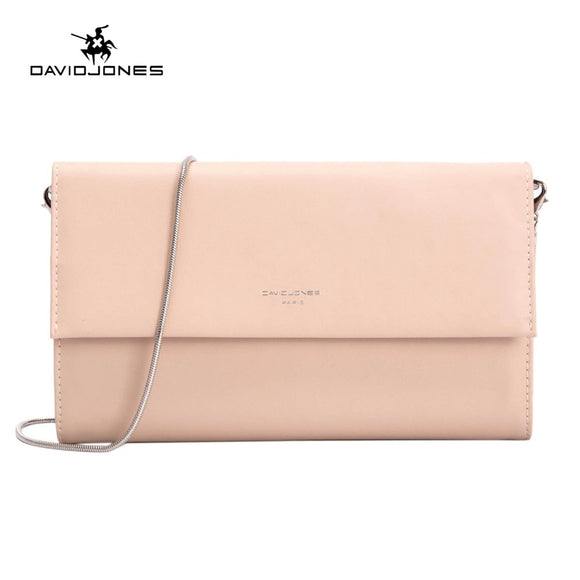 DAVIDJONES women handbag faux leather female shoulder bags small lady solid messenger bag girl brand crossbody bag drop shipping