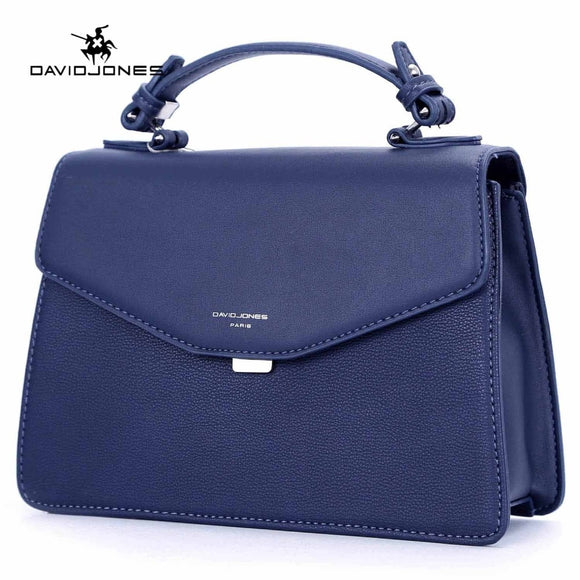 DAVIDJONES women messenger bags faux leather female handbag big lady solid shoulder bag girl brand crossbody bag free shipping