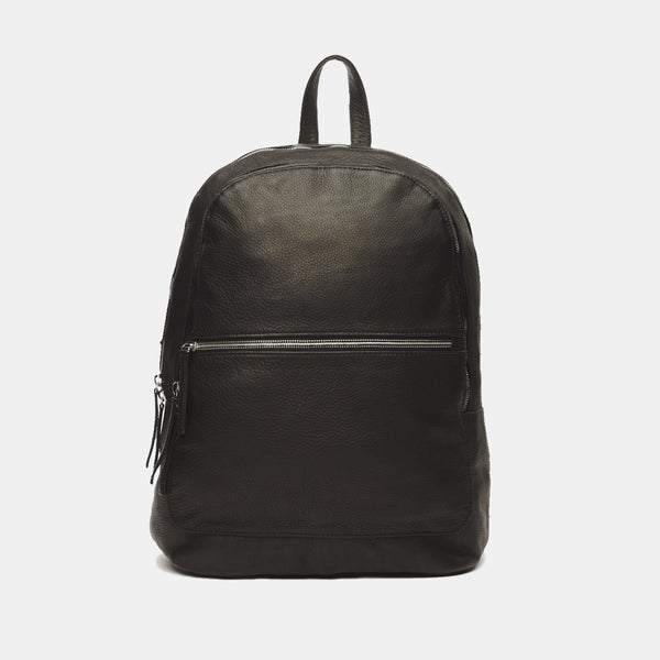 ectu.black.italian.leather.travel.back.pack.grey.zipper