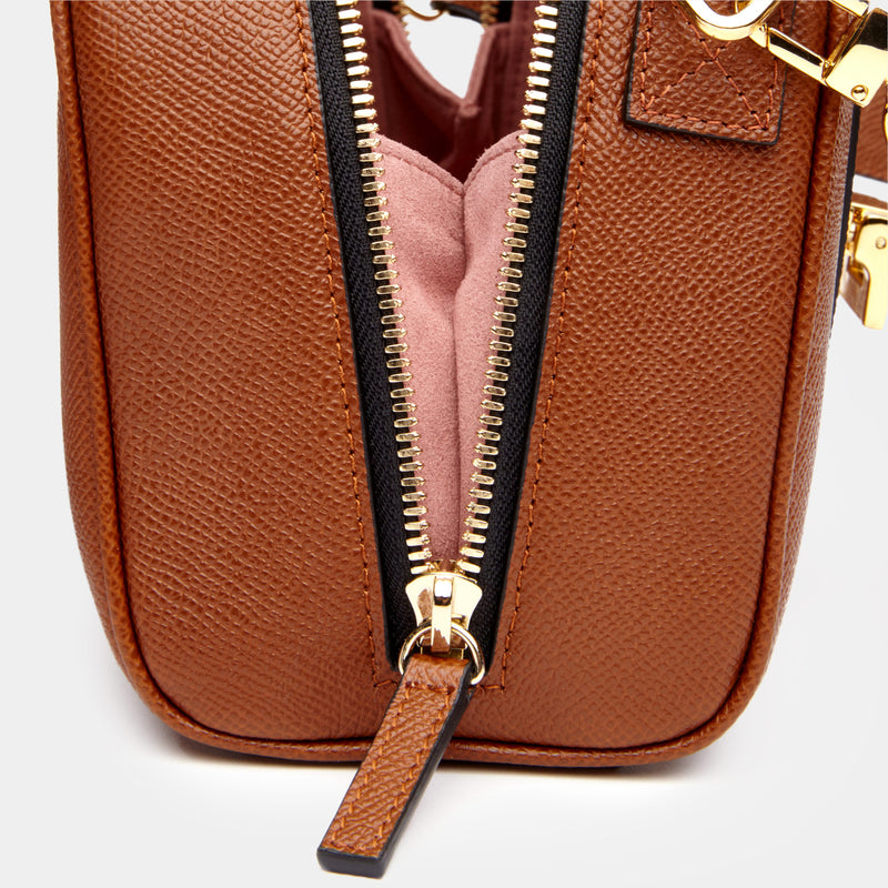 Mini Palermo Italian Leather Crossbody In Acorn