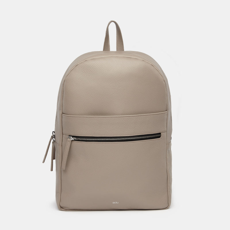 Brooklyn Italian Leather Backpack in Sand