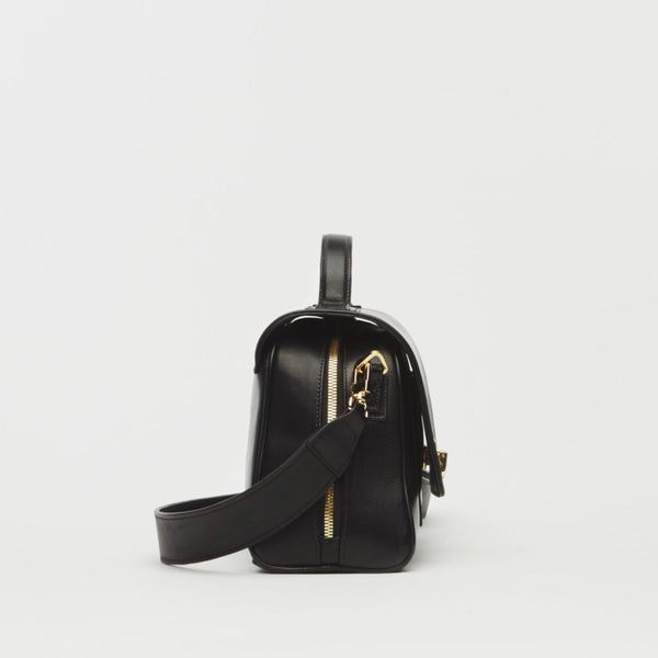 Mini Palermo Italian Leather Crossbody In Black