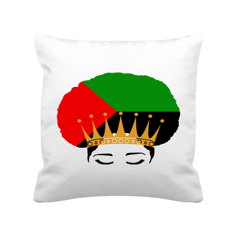Coussin Satiné 40 x 40 cm Queen Afro Mada