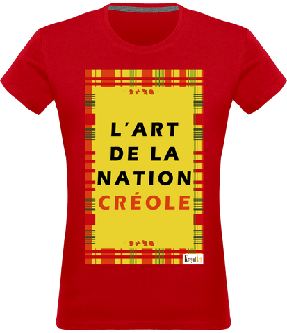 T-shirt  Femme - ART NATION CRÉOLE