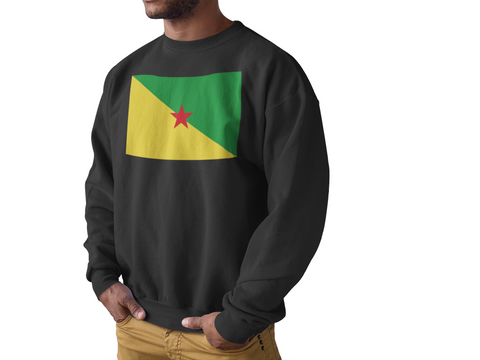 Sweat Homme Col rond - Drapeau Guyane