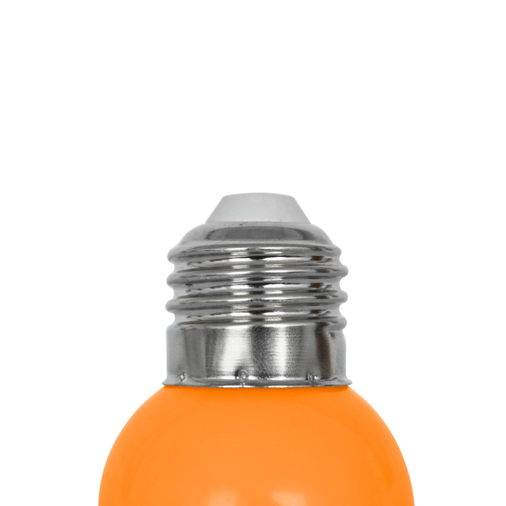 Lámpara LED tipo Mini Globo Naranja 1W 127V E26