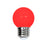 Lámpara LED tipo Mini Globo Rojo 1W 127V E26