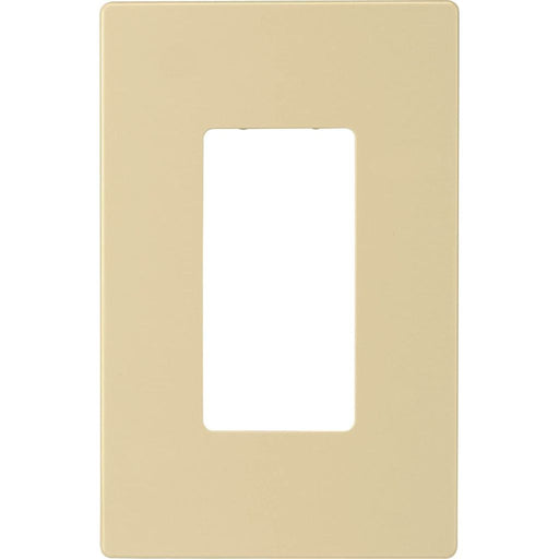 Placa Decorativa 1 espacio color marfil para Insteon